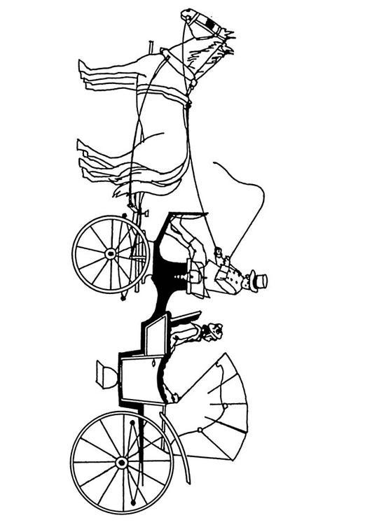 Malvorlage Pferde Mit Kutsche Ausmalbild 18880
