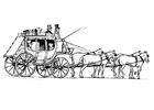 Malvorlage  Pferde mit Kutsche