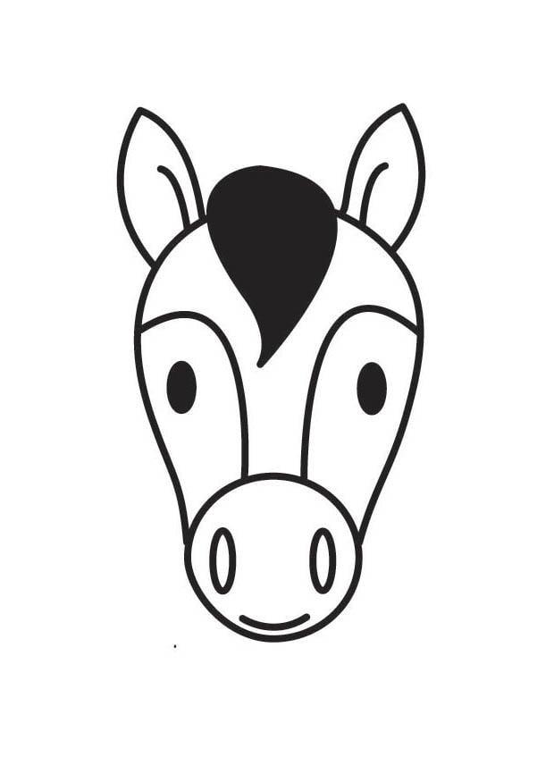 Malvorlage Pferdekopf Ausmalbild 18414