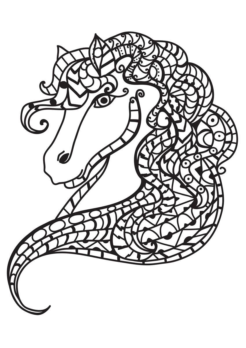 Malvorlage Pferdekopf - Kostenlose Ausmalbilder Zum Ausdrucken