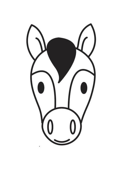 Malvorlage Pferdekopf | Ausmalbild 18414.