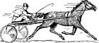Malvorlage  Pferderennen