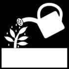 Malvorlage  Pflanzen im Garten versorgen