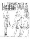 Malvorlage  Pharao Amenophis III