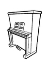Malvorlage  Piano