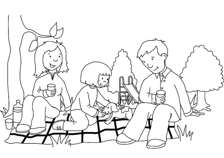 Malvorlage Picknick | Ausmalbild 7311.