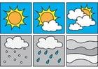 Malvorlage  Pictogramme Wetter 1