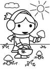 Malvorlage  Pilze sammeln