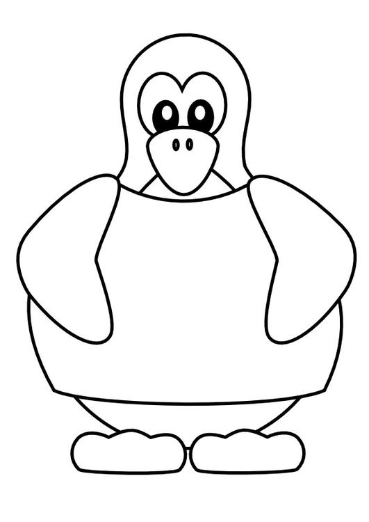 Malvorlage Pinguin Mit T Shirt Ausmalbild 9988