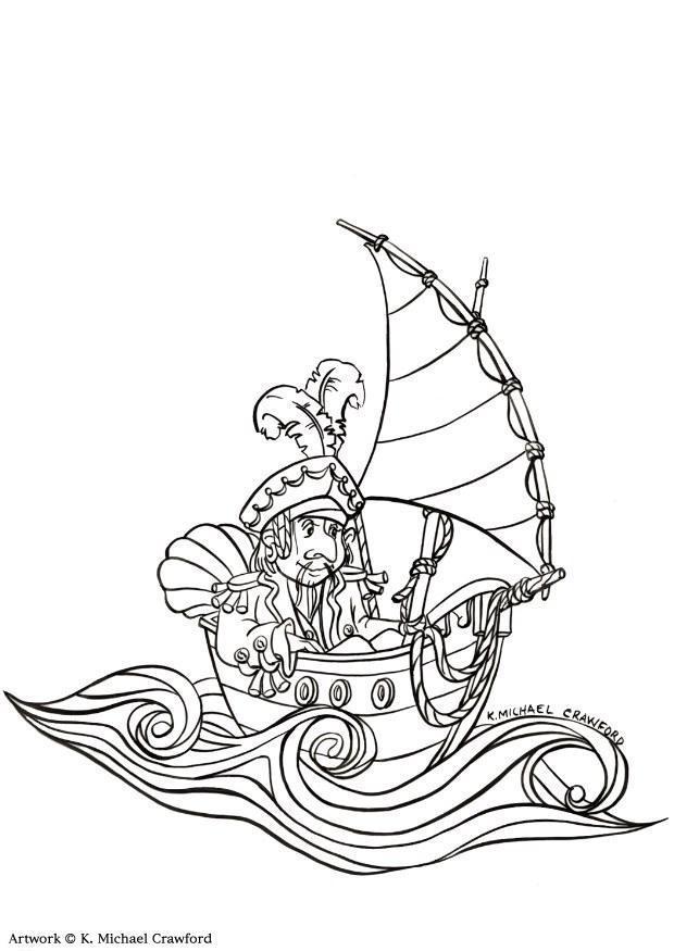 malvorlage pirat  ausmalbild 7348