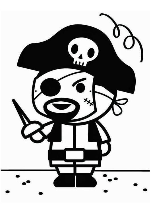 Malvorlage Pirat Karneval Ausmalbild 26699