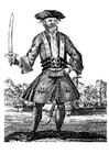 Malvorlage  Pirat Schwarzbart