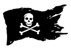 Malvorlagen Piratenflagge