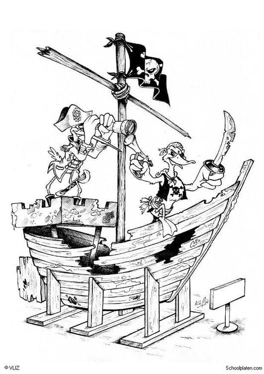 malvorlage piratenschiff  kostenlose ausmalbilder zum