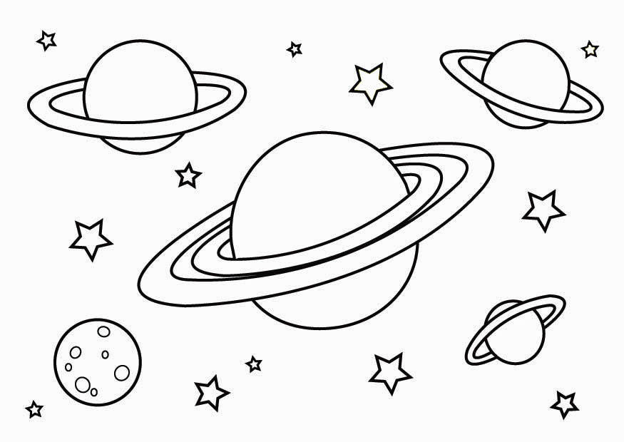 Space Planets Coloring Pages Golfclub