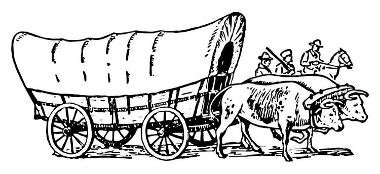 Malvorlage Planwagen | Ausmalbild 15714.