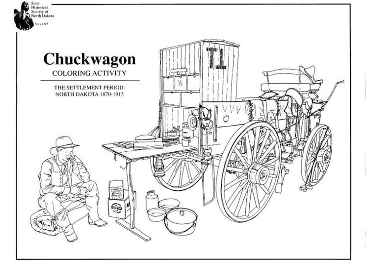 Malvorlage Planwagen | Ausmalbild 7958.