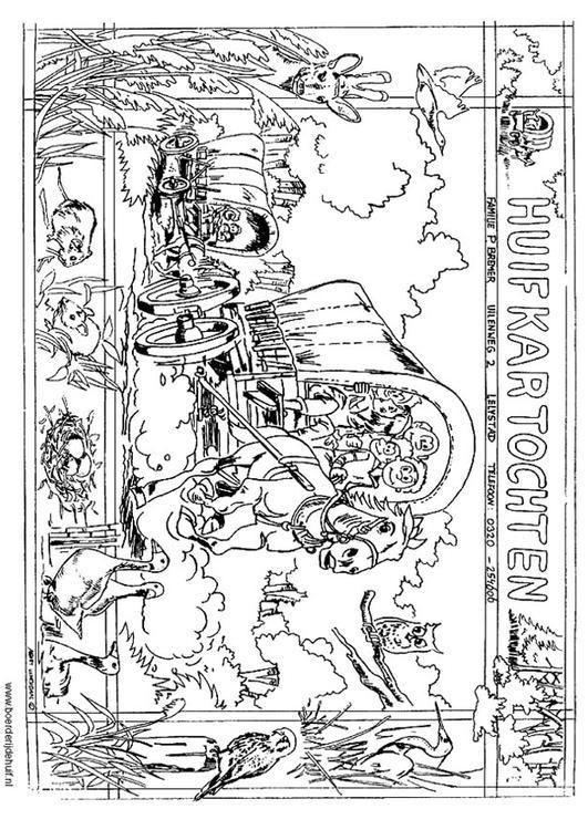 Malvorlage Planwagen | Ausmalbild 12174.