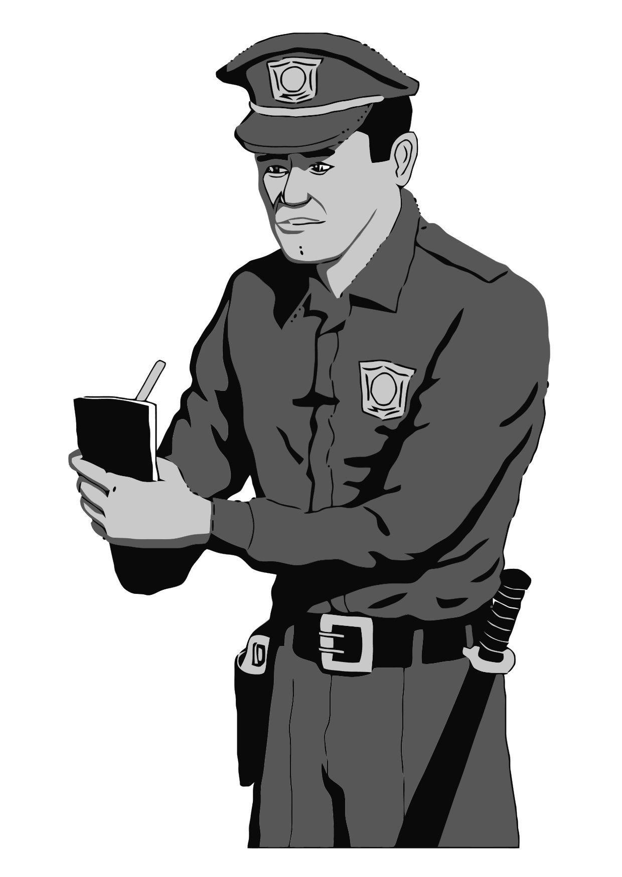Malvorlage Polizei | Ausmalbild 11884.