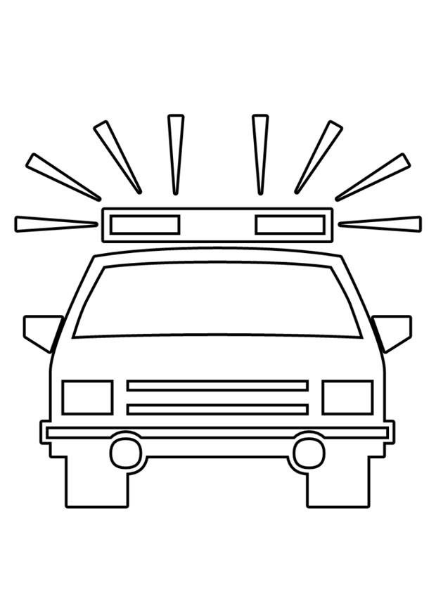 malvorlage polizeiauto  kostenlose ausmalbilder zum