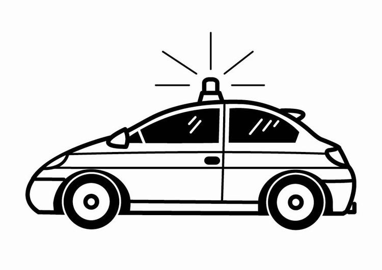Malvorlage Polizeiauto | Ausmalbild 24104.