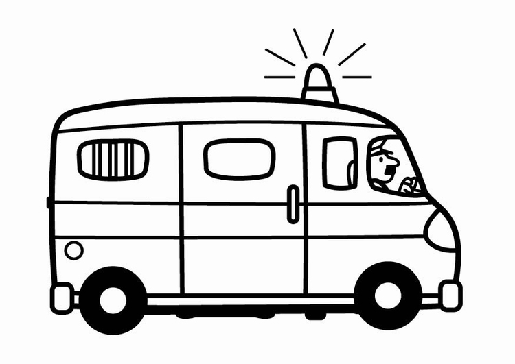 malvorlage polizeibus - kostenlose ausmalbilder zum