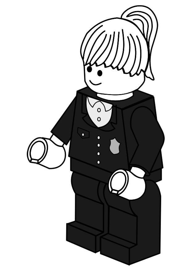 Malvorlage Polizist   Ausmalbild 20145.
