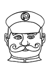 Malvorlage  Polizistenmaske