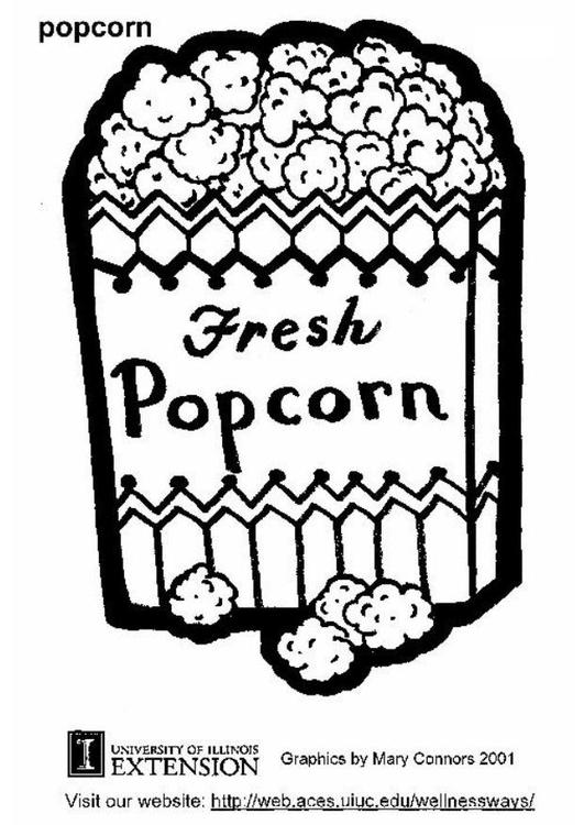 Poep Kleurplaat Printen Malvorlage Popcorn