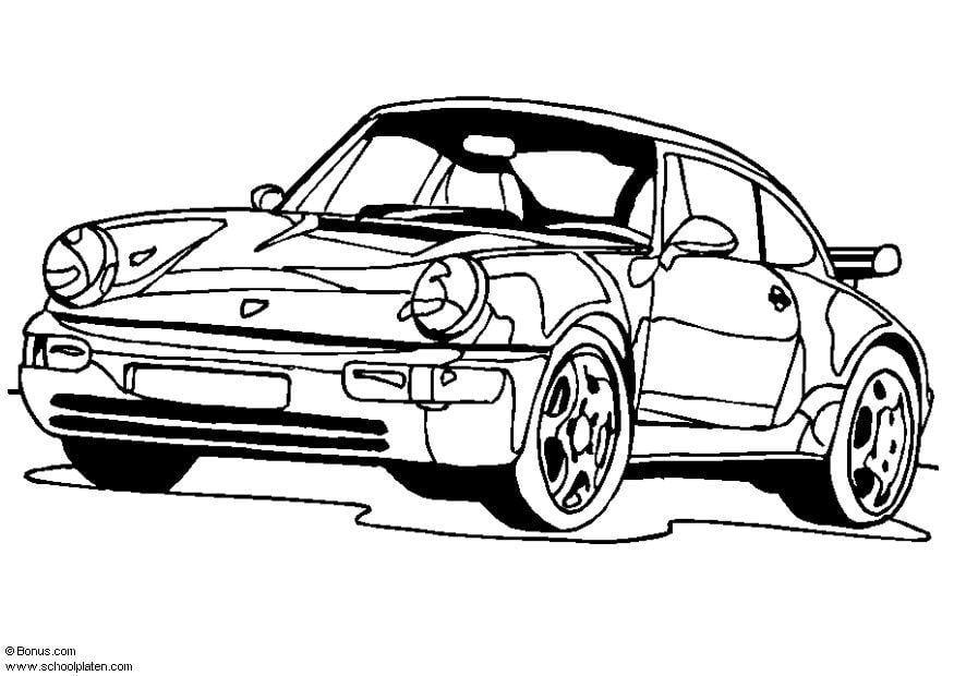 Malvorlage Porsche 911 Turbo | Ausmalbild 5443.