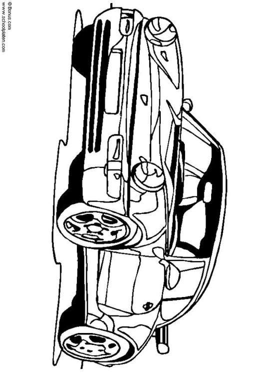 Ausmalbild Porsche 911
