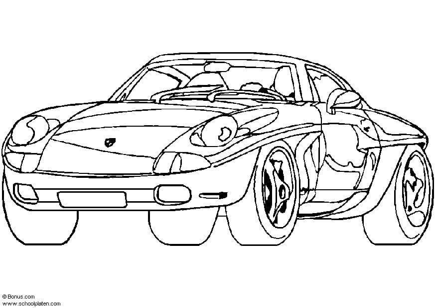Malvorlage Porsche Showcar | Ausmalbild 5444.