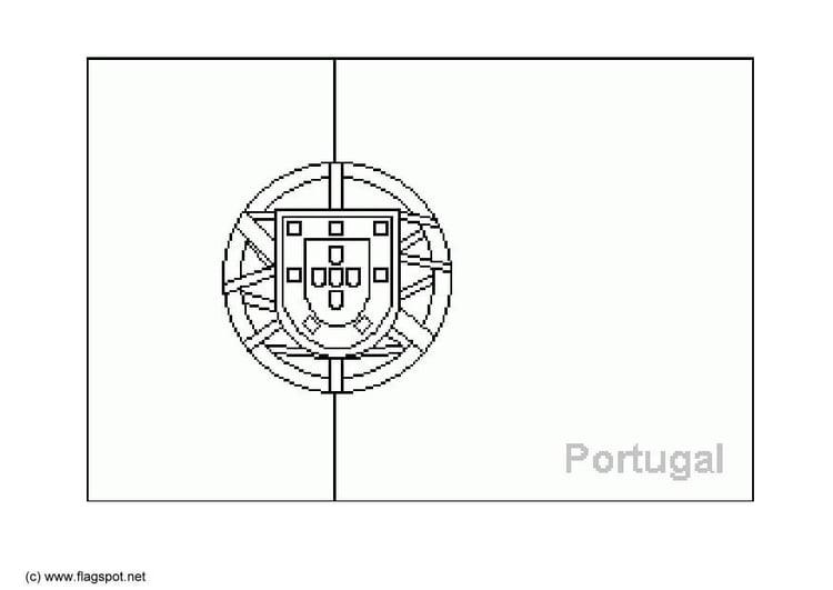 Malvorlage Portugal Ausmalbild 6381