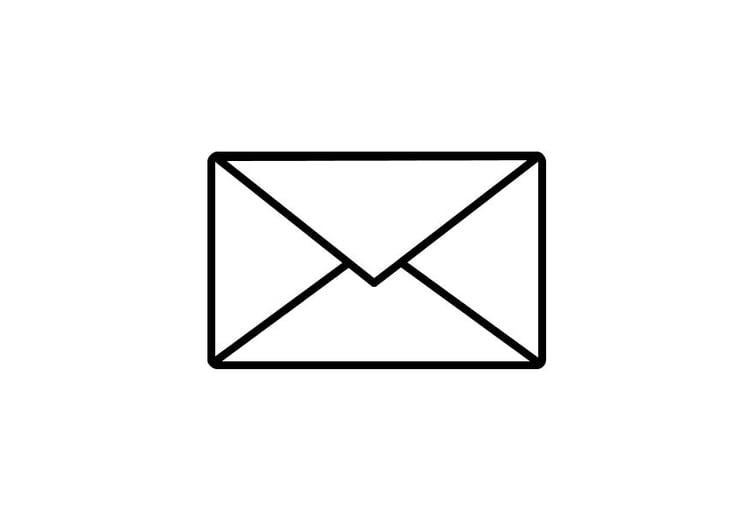 Malvorlage Post Umschlag | Ausmalbild 10178.
