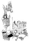 Malvorlage  predigender Priester