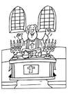 Malvorlage  Priester