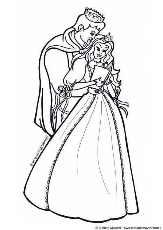 Malvorlage Prinz Und Prinzessin Ausmalbild 12418