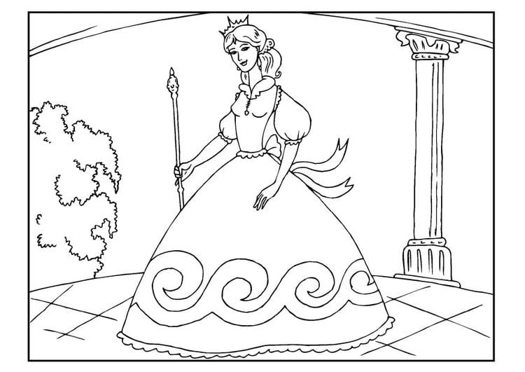 Malvorlage Prinzessin | Ausmalbild 22654.