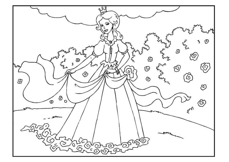 Malvorlage Prinzessin Im Garten Kostenlose Ausmalbilder Zum Ausdrucken