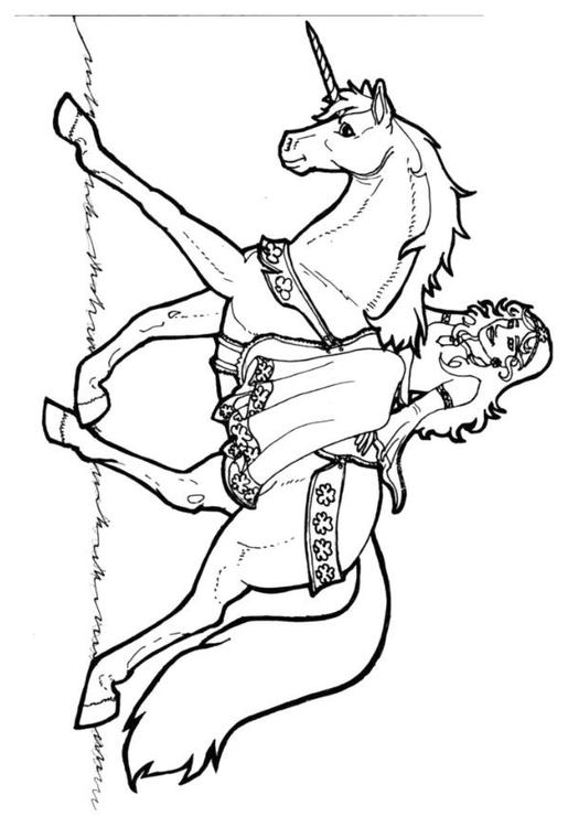 Malvorlage Prinzessin Von Schamrock Auf Einhorn Ausmalbild 7136