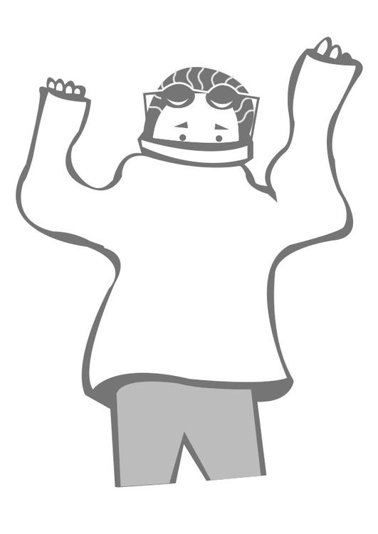 Pullover anziehen