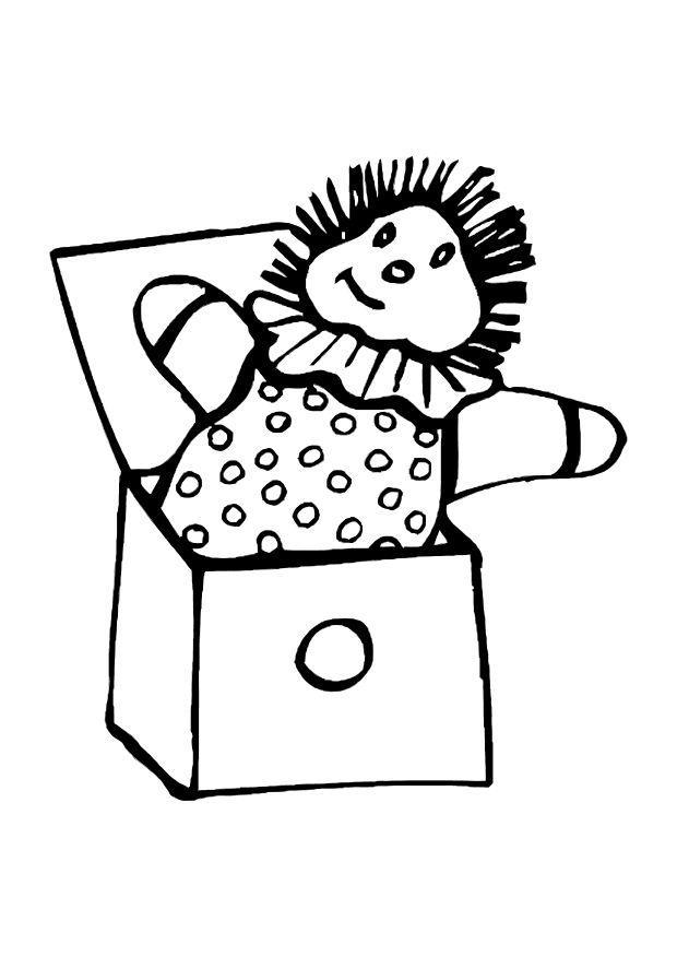 Malvorlage Puppe aus der Kiste   Ausmalbild 12068.