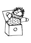 Malvorlage  Puppe aus der Kiste