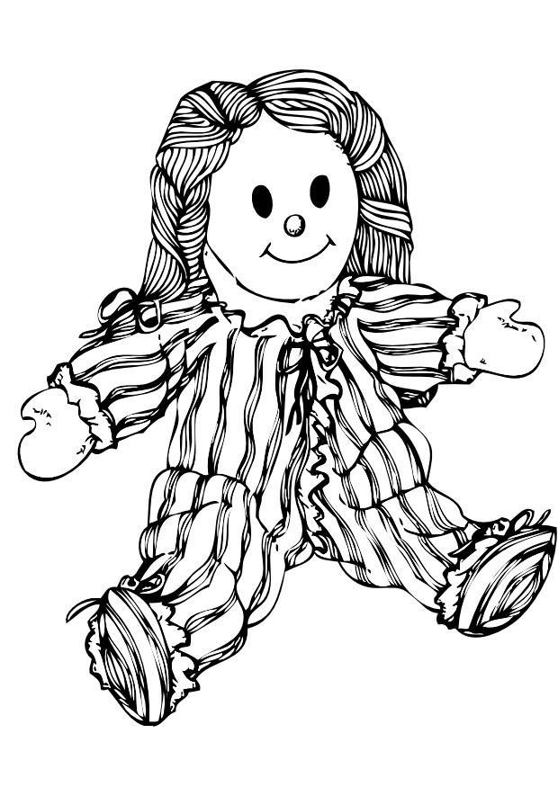 Malvorlage Puppe   Ausmalbild 10045.