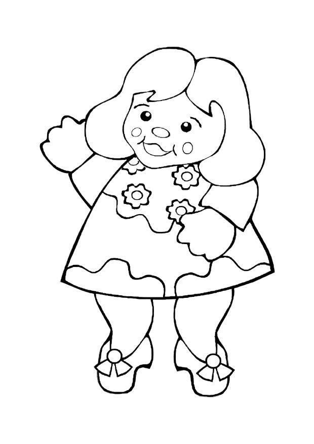 Malvorlage Puppe   Ausmalbild 10603.