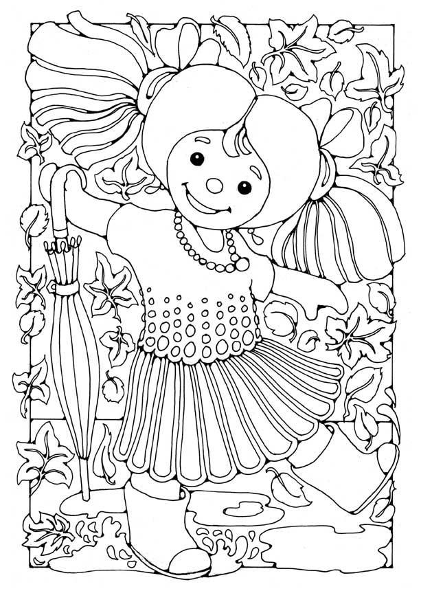 Malvorlage Puppe - Mächen   Ausmalbild 15808.