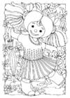 Malvorlage  Puppe - Mächen
