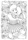 Malvorlage  Puppe - Mädchen