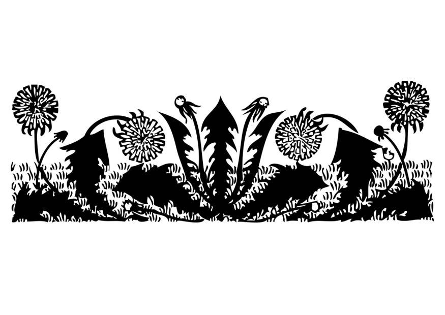 malvorlage pusteblumen  ausmalbild 17073