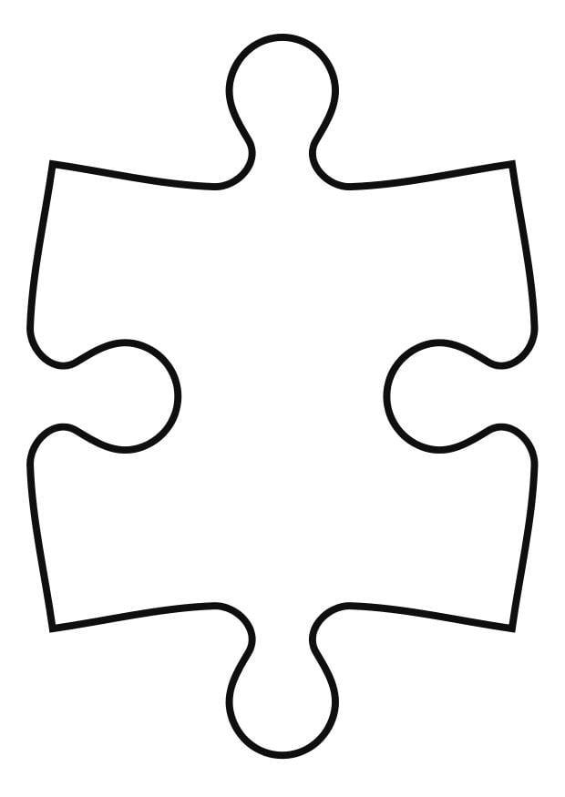 Malvorlage Puzzleteil | Ausmalbild 27119.